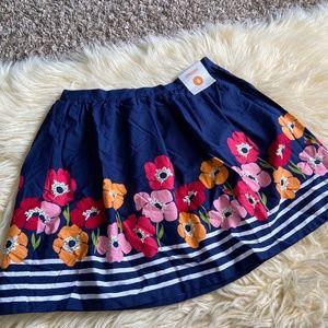 Gymboree Navy Floral Design Skirt NWT